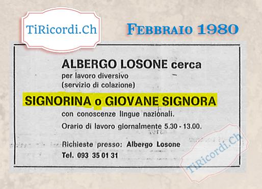Febbraio 1980: basti che sia giovane... #40anni