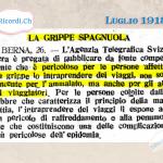 """Come il Ticino si preparava alla temibile """"influenza spagnola"""" del 1918 #pandemie"""