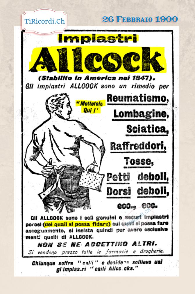 26 Febbraio 1900: rimedio per ogni male #120anni