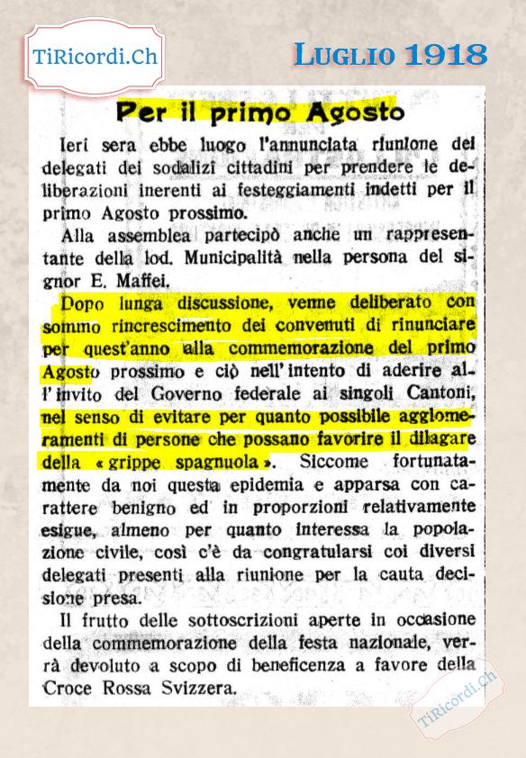 Così si preparava il Canton Ticino #102anni fa durante la pandemia dell'influenza spagnola che fra il 1918 e il 1920 ucc...