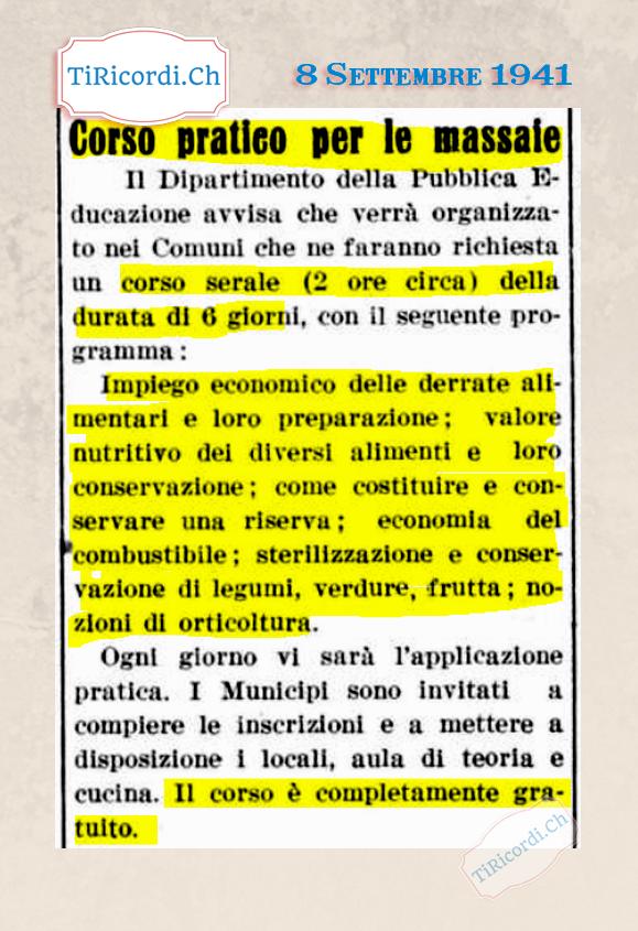 Settembre 1941: A noi oggi tocca semplicemente  #restareacasa ma in altri momenti bui nel Canton Ticino #79anni