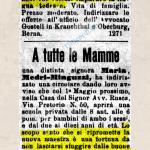 13 Aprile 1920: Annuncio sul giornale #100anni