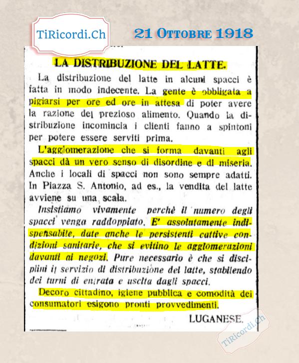 """21 Ottobre 1918: """"Si evitino agglomerazioni""""  Durante la pandemia della spagnola spacci presi d'assalto.  #spagnola #epi..."""