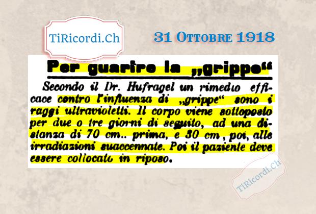 31 Ottobre 1918: Le fake news riguardanti l'influenza spagnola non mancavano anche #102anni fa #pandemia