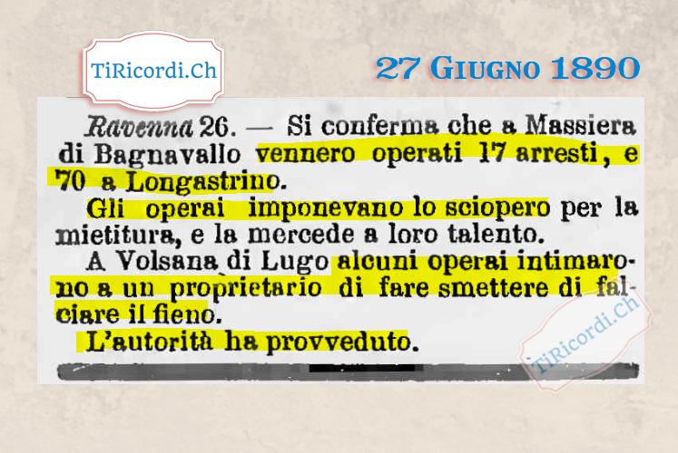 27 Giugno 1890: Molto prima dei sindacati #130anni