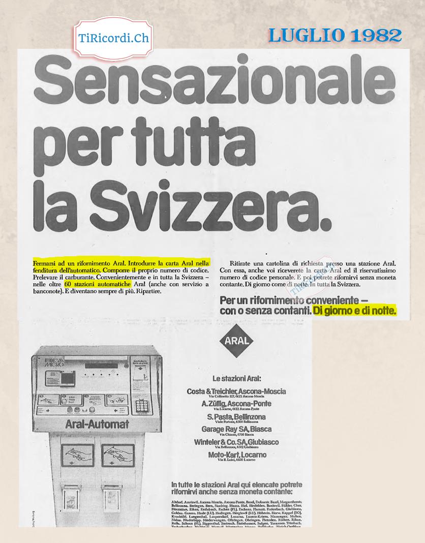 Luglio del 1982: Il primo distributore di benzina automatico #38anni