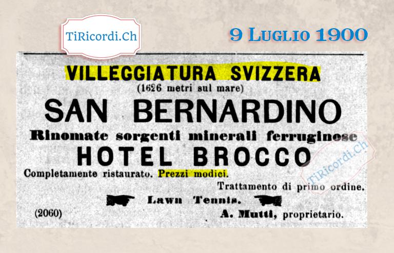 9 Luglio 1900: Le tue vacanze in Svizzera anche #120anni fa