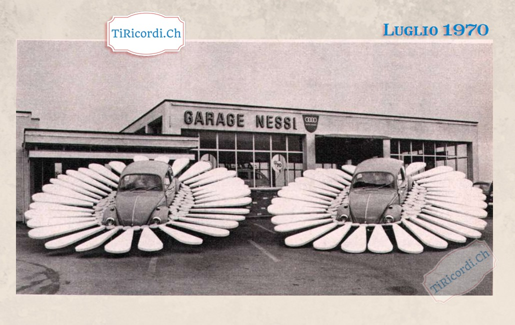 Luglio 1970: trovata pubblicitaria del garage Nessi a Cadenazzo #50anni Garage Nessi Sa