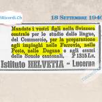 """Settembre 1935: Pubblicità """"CORNASAN, Infallible contro i calli"""""""