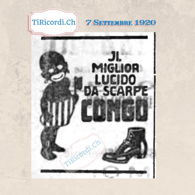 7 Settembre 1920: Singolare pubblicità apparsa sui giornali ticinesi #100anni fa