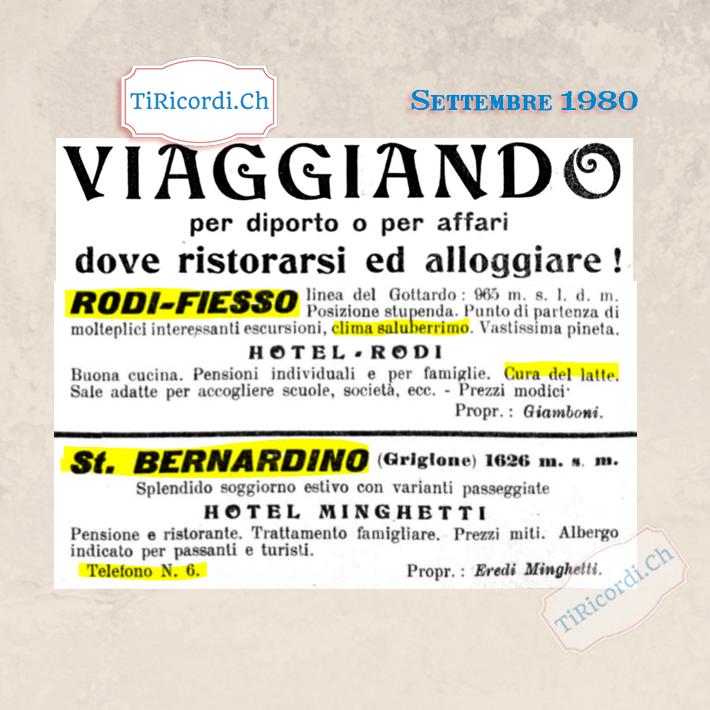 Settembre 1920: Le vacanze in Ticino #100anni fa #PARTE3