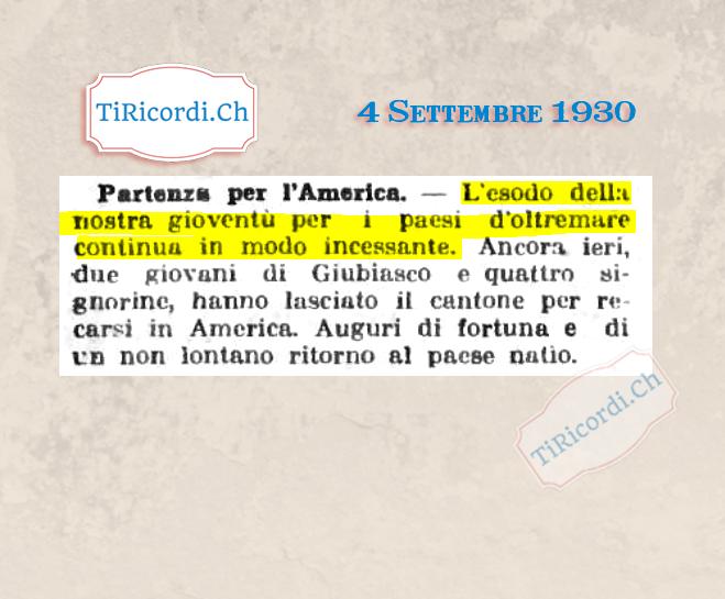 Settembre 1930: Fuga di cervelli negli Stati Uniti #90anni