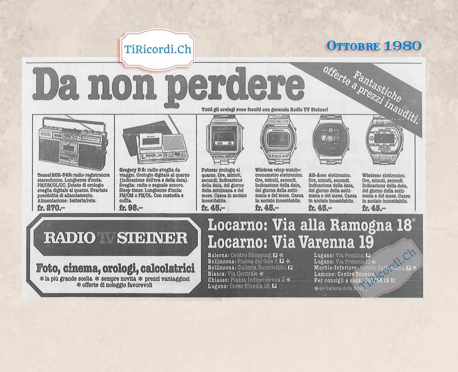 Ottobre 1980: Pubblicità tecnologica