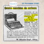 16 Novembre 1930: una macchina (da scrivere) in pseudo-leasing #90anni