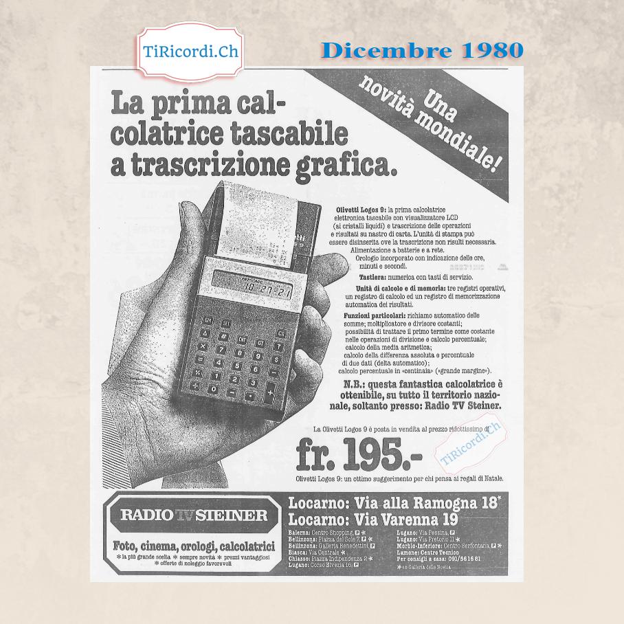 Dicembre 1980: La prima calcolatrice con stampante... portatile!