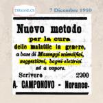 7 Dicembre 1910: Massaggi scientifici, bagni elettrici per la cura delle malattie #110anni