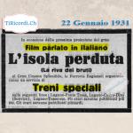 """22 Gennaio 1931:Film """"parlato"""" in italiano #90anni"""