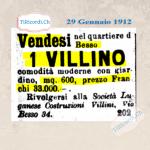 29 Gennaio 1911: Villino in vendita a Besso #110anni